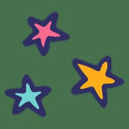 Desenhos animados do ícone de estrelas