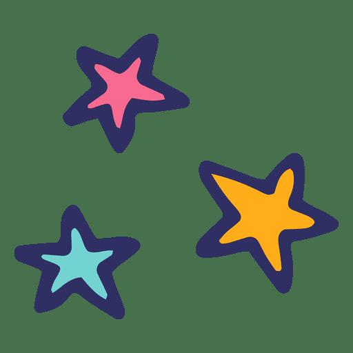 Dibujos animados icono de estrellas