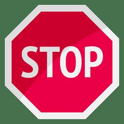 Pare o símbolo de sinal