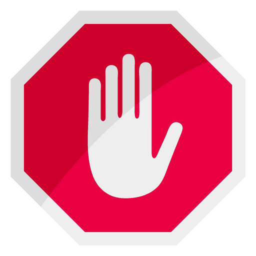 stop sign icon hand - transparent png & svg vector