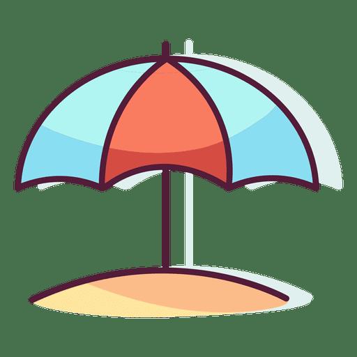 Sun umbrella beach sand Transparent PNG