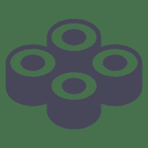 Icono de rollos de sushi Transparent PNG
