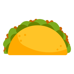 Taco icon cartoon
