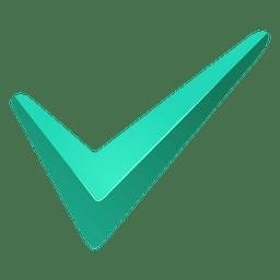 Marca de verificación turquesa