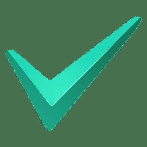 Marca de verificación turquesa Transparent PNG