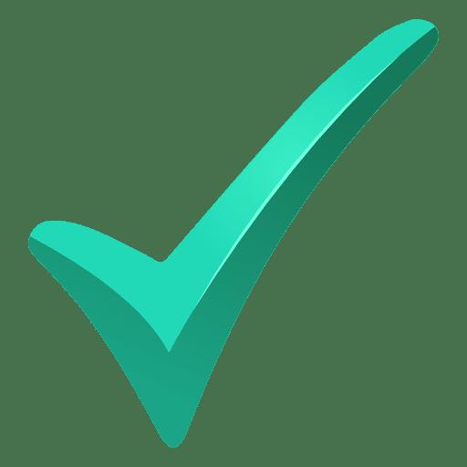 Marca de verificação de carrapato turquesa Transparent PNG