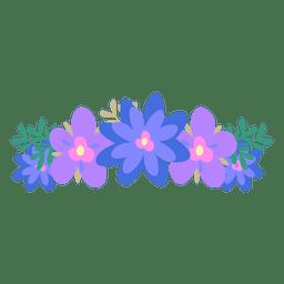 Coroa de flor azul violeta