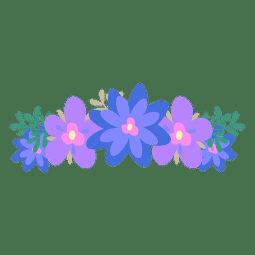 Violet blue flower crown Transparent PNG