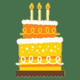 Bolo de aniversário amarelo