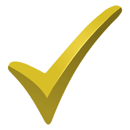 Marca de verificação amarela