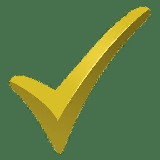 Marca de verificación amarilla Transparent PNG
