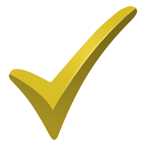 Yellow check mark Transparent PNG