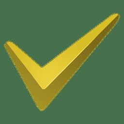 Icono de marca de verificación amarilla