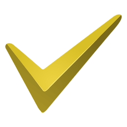 Yellow check mark icon