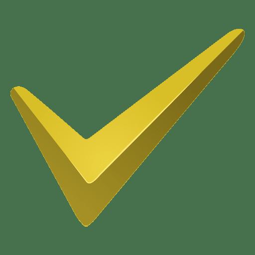 Ícone de marca de seleção amarela Transparent PNG