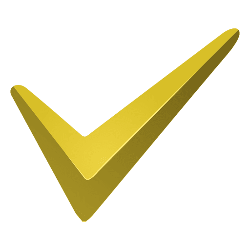 Yellow check mark icon Transparent PNG