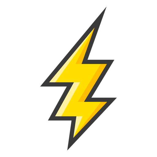 Yellow ightning bolt Transparent PNG