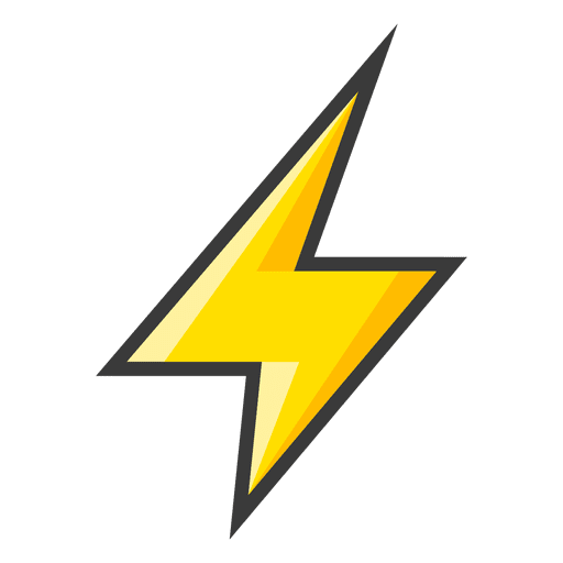 Yellow lightning bolt icon - Transparent PNG & SVG vector