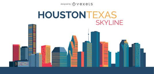 Ilustração do horizonte de Houston
