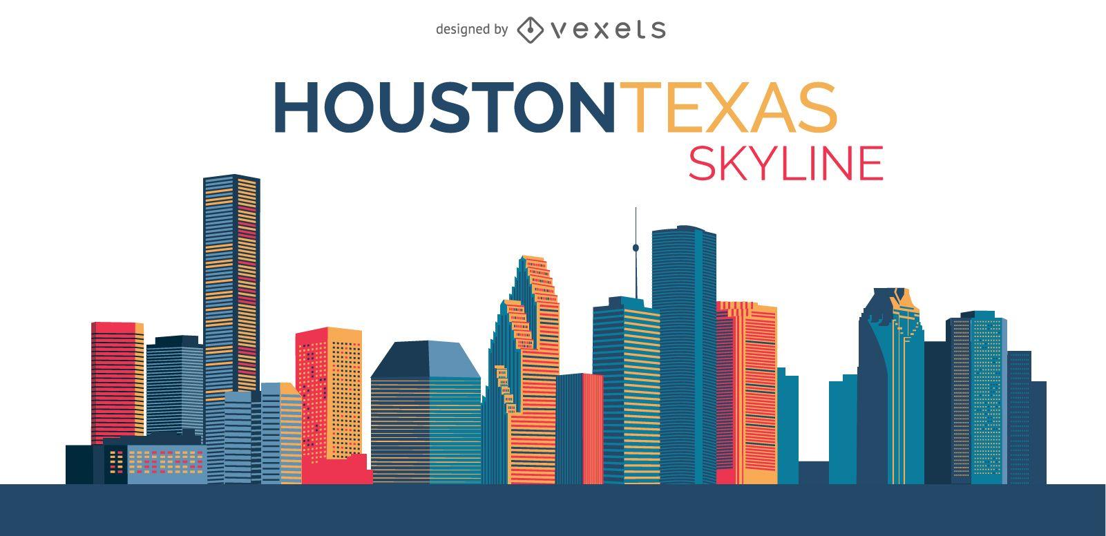 Ilustración del horizonte de Houston