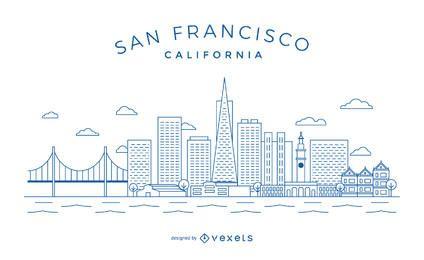 San Francisco minimalistische Skyline