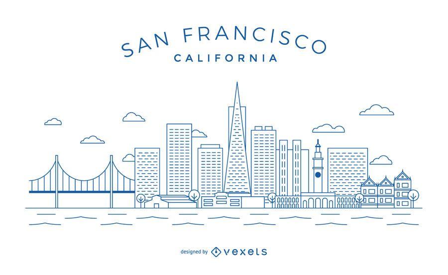 Skyline minimalista de San Francisco