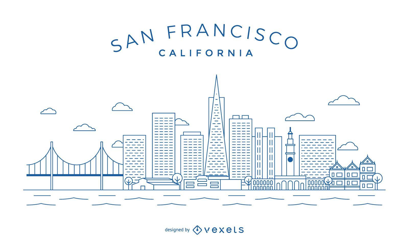 San Francisco minimalist Skyline