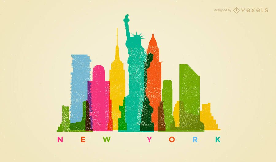 New york Colorful Landscape