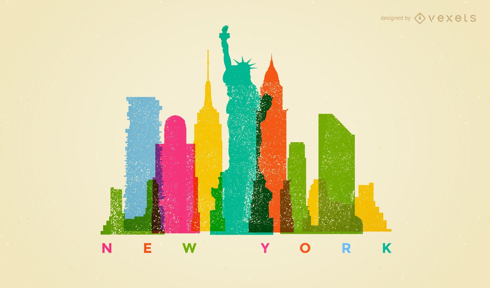 New york Colorful Landscape