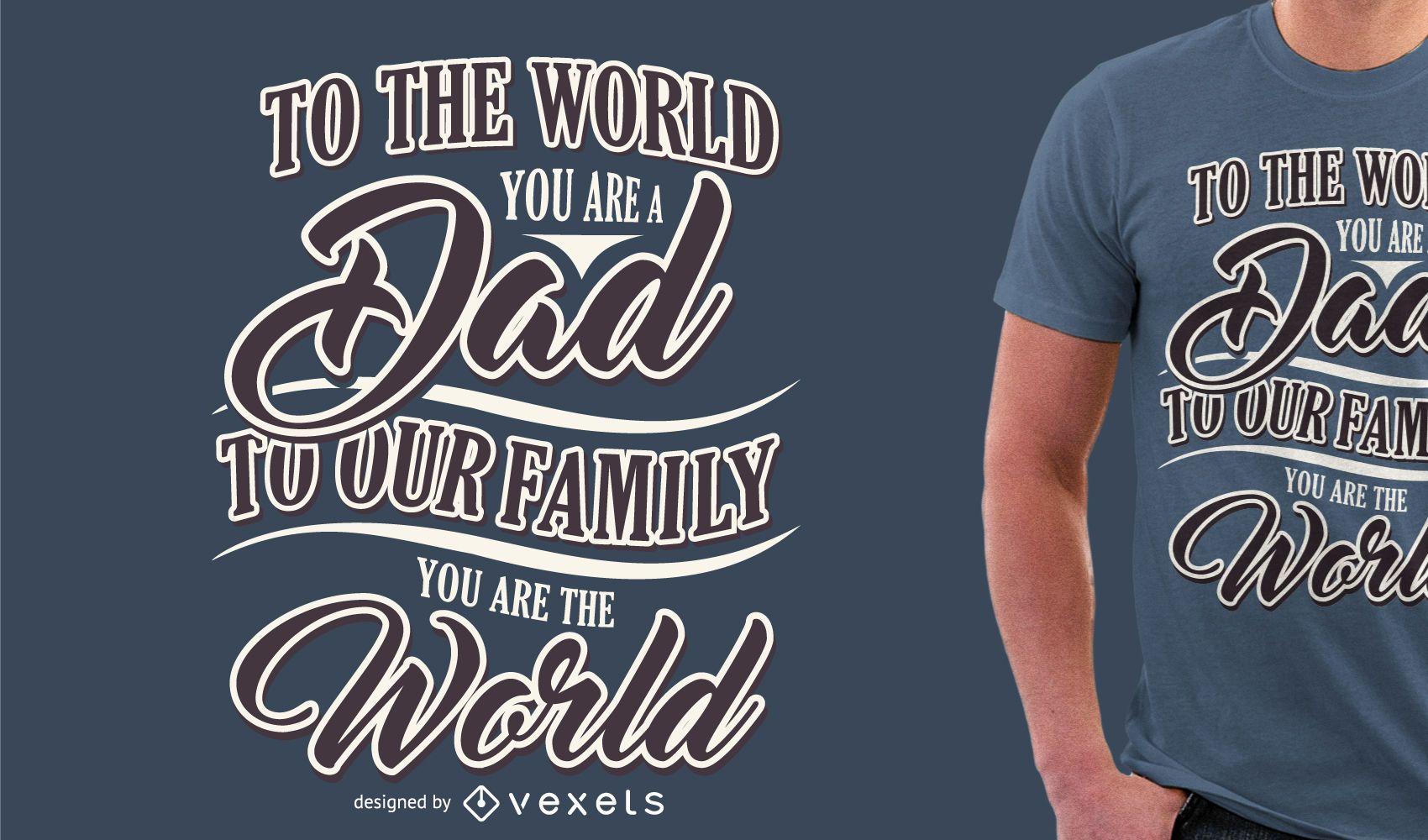 Camiseta do dia dos pais
