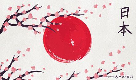 Bandera artística de Japón