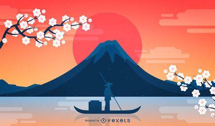 Fondo de Fuji de Japón