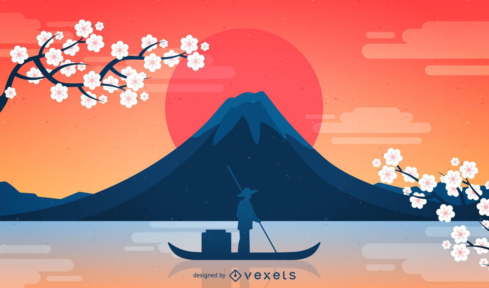 Fondo de Japón Fuji