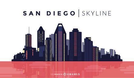 Skyline de cor de San Diego