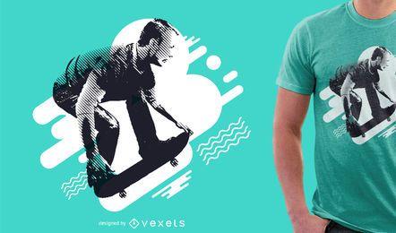 Skate camiseta de diseño