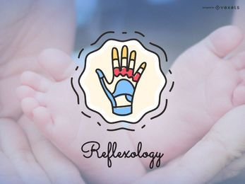 Ícone do logotipo de reflexologia