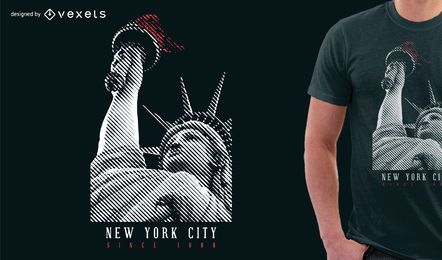 Diseño de camiseta de la Estatua de la Libertad
