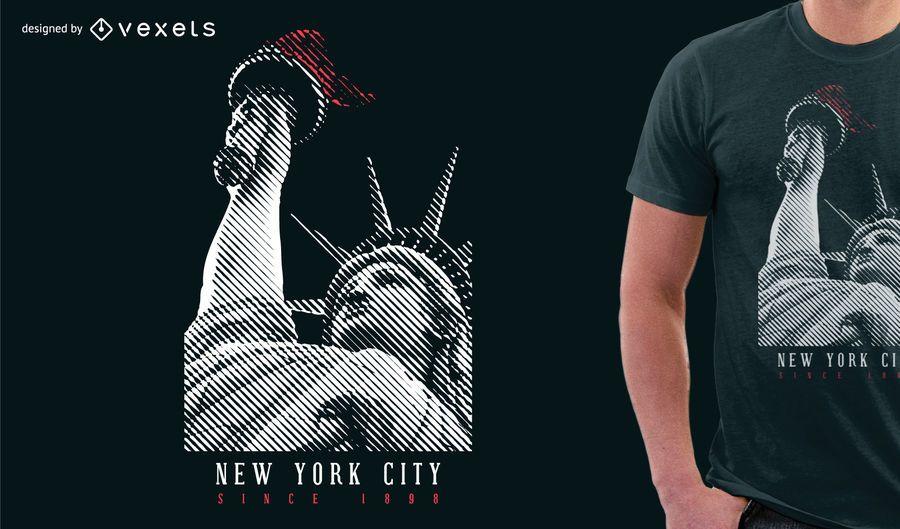 Statue of Liberty T-shirt Design
