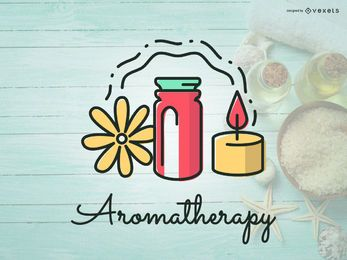 Design de ícone de logotipo de aromaterapia