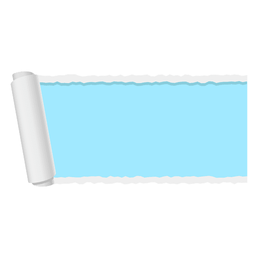 Blue ripped paper banner png