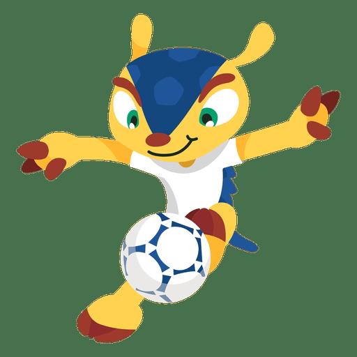 Fuleco brazil 2014 fifa mascot Transparent PNG