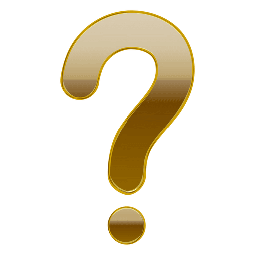 Gold gradient 3d question mark Transparent PNG