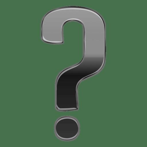 Gradiente de interrogación gris 3d Transparent PNG