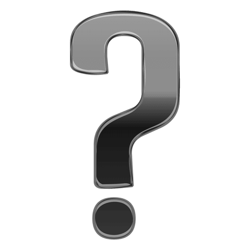 Gray Gradient 3d Question Mark Transparent Png Svg Vector File