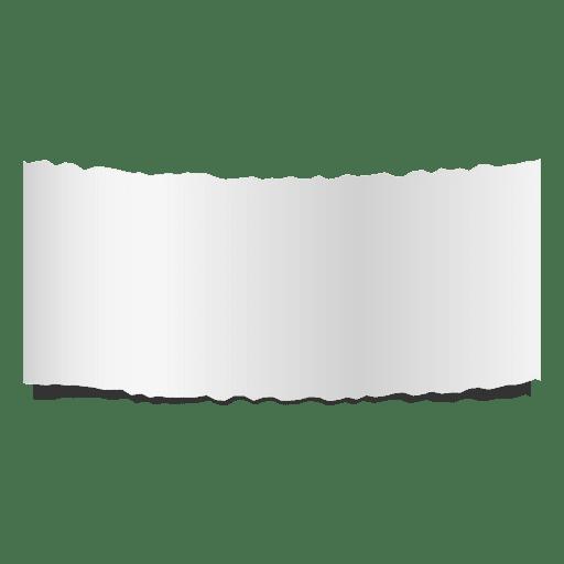 Bandeira de papel rasgado cinza Transparent PNG