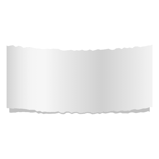 Gray ripped paper banner Transparent PNG