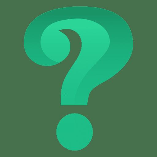 Signo de interrogación verde 3d Transparent PNG