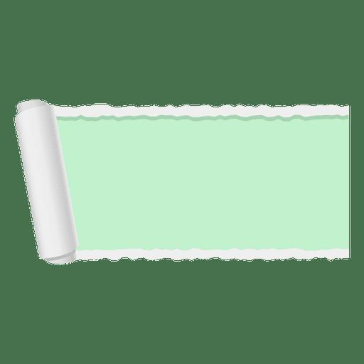 Bandera de papel rasgado verde Transparent PNG