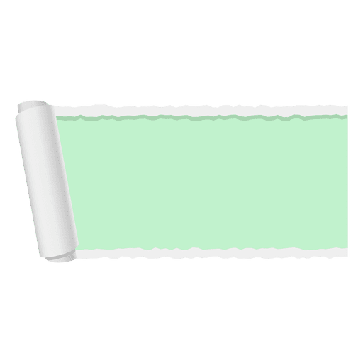 Green ripped paper banner Transparent PNG