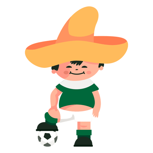 Mascote da fifa Juanito México 1970 Transparent PNG